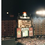 A full moon & Cal Ripken at bat