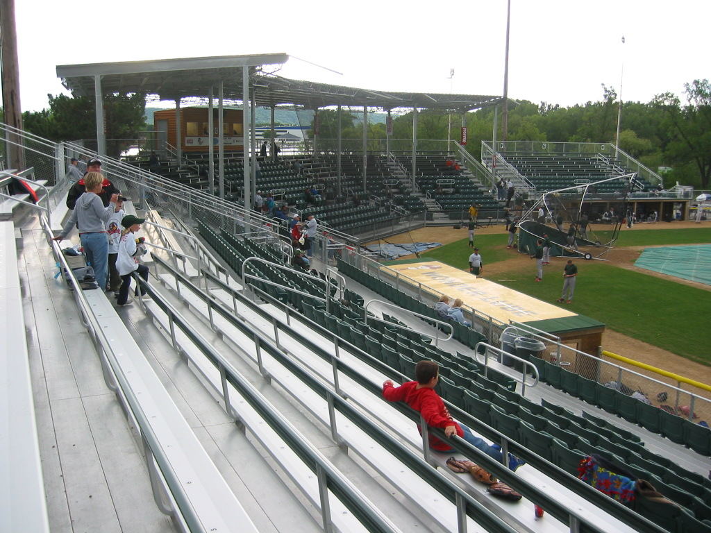 Seating expanded down both baselines for season two