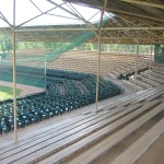 Grandstand with new premium seating