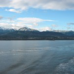 Leaving Port Angeles, WA and Olympic Mountains behind