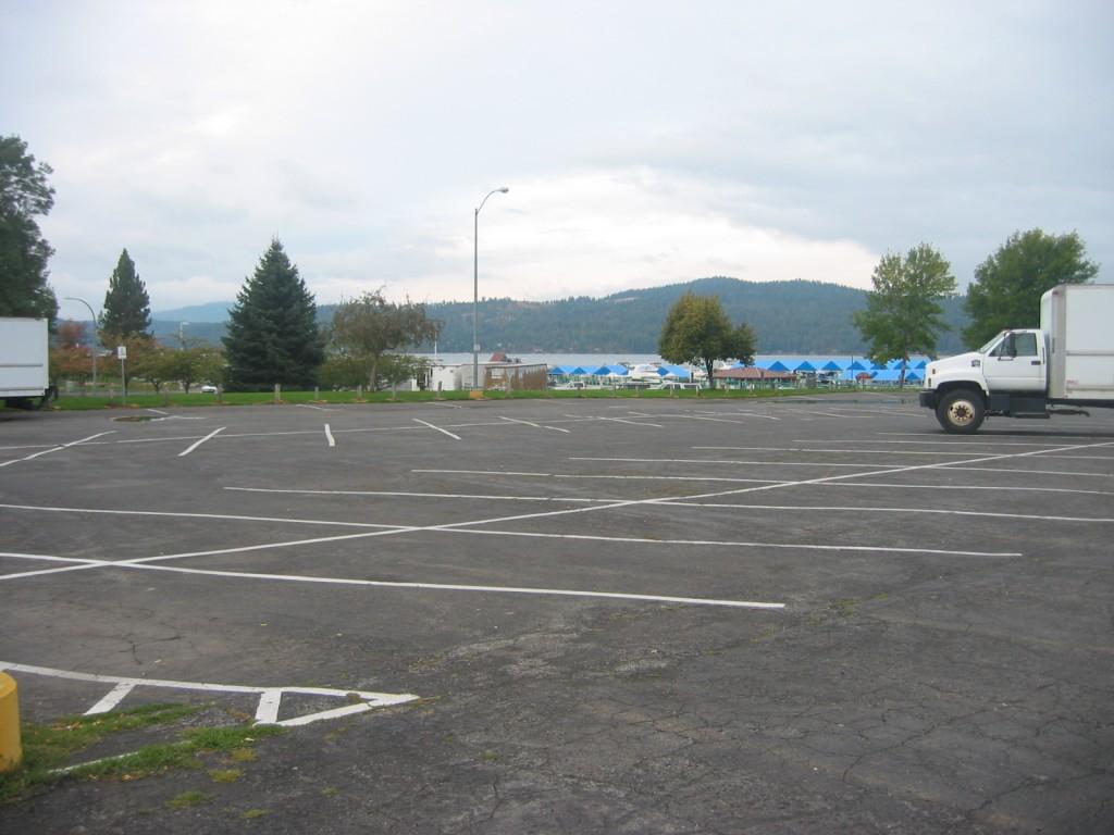 Coeur d'Alene Lake beyond the parking lot