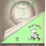 Victoria Tyees Program from 1953