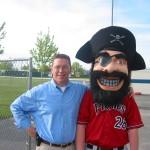 Fan with mascot...arrrgh!