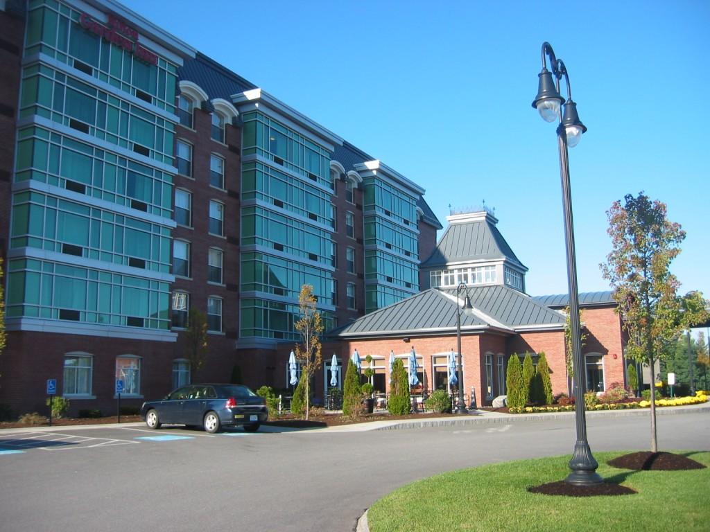 The front side of the Hilton Garden Inn