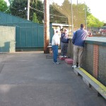 Visitors dugout vantage point