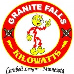 Simulated Logo 1 using the cartoon character Reddy Kilowatt that was used by the Granite Falls High School Kilowatts before becoming the Yellow Medicine East Sting.  The summer amateur team still uses the Kilowatts name.