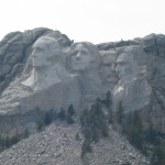 A closer view of George, Thomas, Teddy, and Abe