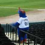 """Pinch,"" the Blue Crabs' mascot"