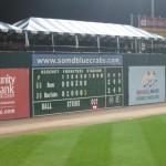 Nice Fenway style hand-operated scoreboard